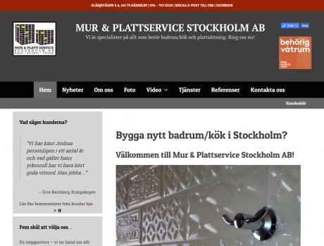 Mur & Plattservice Stockholm AB